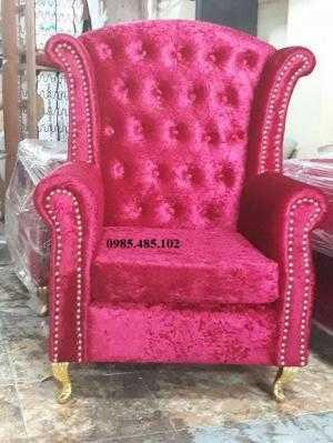 Sofa đơn tân cổ điển nhấn nút- Xưởng sản xuất sofa giá rẻ