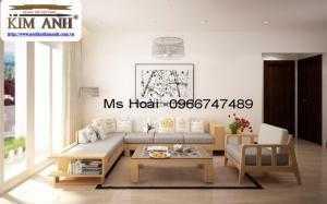 Sofa gỗ chữ L, bàn ghế sofa gỗ tự nhiên TPHCM giá rẻ