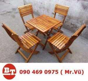 Bàn ghế gỗ cafe KT 223