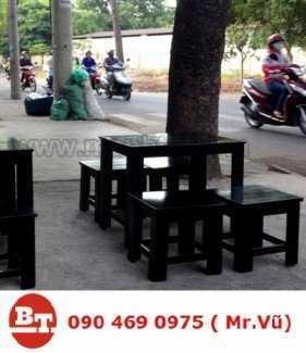 Bàn ghế gỗ cafe KT 875