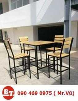 Bàn ghế gỗ cafe KT 539