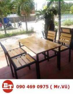 Bàn ghế gỗ cafe KT 598