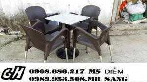 Bàn ghế nhựa cafe sân vườn giá rẻ nhất hgh076