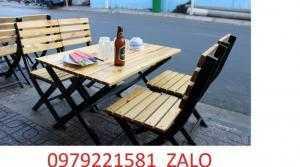 Bàn ghế gỗ chuyên dùng cho quán nhậu anh