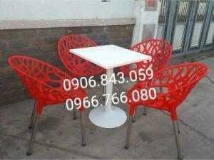 Bàn ghế nhựa hoa văn giá rẻ