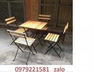 Bộ bàn ghế gỗ giá hấp dẫn là đây