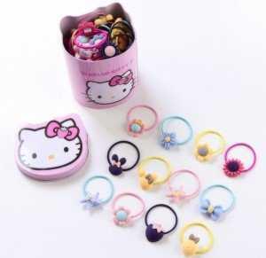Hộp 40 Dây Buộc Tóc Hello Kitty Cho Bé - MSN1831090