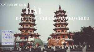 Visa Du lịch - Đài Loan 3 tháng - 1 lần - lưu trú 30 ngày