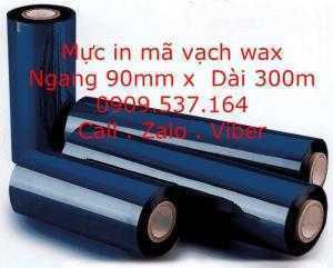 Mực in mã vạch wax 90mm x 300m
