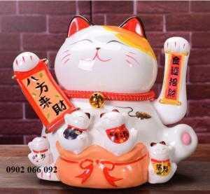 Mèo thần tài may mắn vẫy tay Neko Nhật Bản