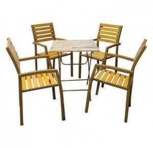 Bàn ghế gỗ đứng