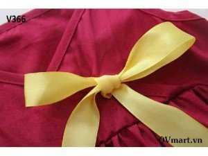 Váy 2 dây đỏ nơ vàng