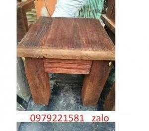 Bàn ghế gỗ giả sơ dừa mẫu mới