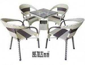 Bộ bàn ghế cafe rẻ