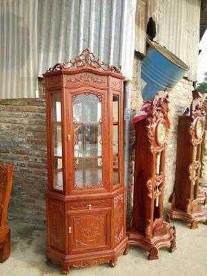 Tủ Rượu góc - gỗ gụ , gỗ hương vân , gỗ gõ đỏ , gỗ hương đá