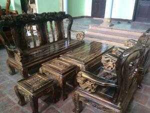 Bộ bàn ghế giả cổ minh đào gỗ tràm lõi