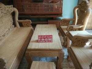 Bộ bàn ghế đồng kỵ rồng đỉnh gỗ gõ đỏ