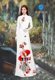 Vải áo dài Màu Hoa Phượng AD N2194