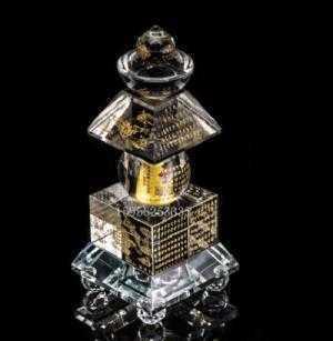 Tháp xá lợi pha lê khắc thần chú