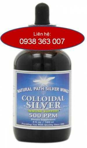 Keo bạc Colloidal Silver, 500 PPM điều trị bệnh gan, ung thư , viêm nhiễm, đau mắt đỏ,tăng cường miễn dịch