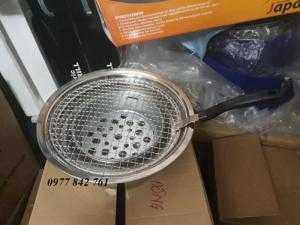 Bếp nướng than hoa âm bàn inox cho quán lẩu nướng