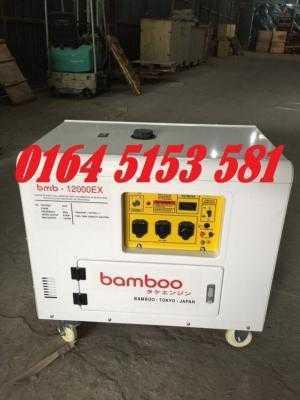 Máy phát điện chạy xăng 10kw Bamboo 12000E chống ồn cực tốt