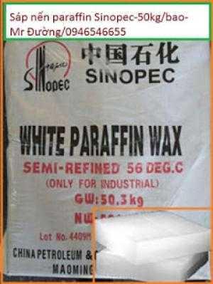 Sáp nến parafin 58-60%, 50kg/bao , hàng Hồ Nam Trung Quốc