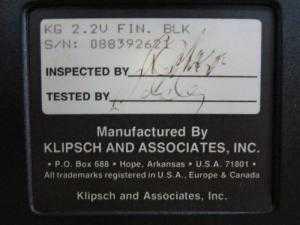 Loa Klipsch KG 2.2U