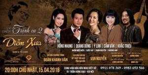 Bán vé Đêm nhạc Trịnh Công Sơn :Trịnh Ca 2 Diễm xưa