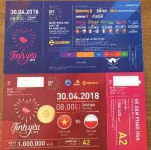 Bán vé pháo hoa Đà Nẵng 2018