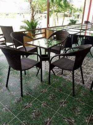 Bàn ghế cafe giả mây giá rẻ