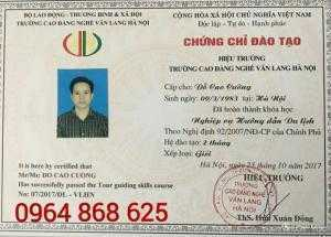 Trường đào tạo cấp chứng chỉ nghiệp vụ hướng dẫn du lịch ở Hà Nội