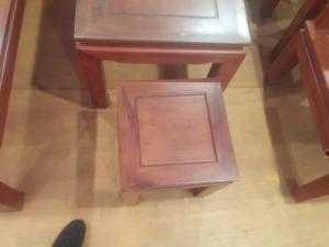 Bộ bàn ghế kiểu Hồng Công 100% Gỗ hương