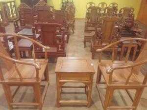 Bộ bàn ghế minh gỗ gỏ đỏ cao cấp