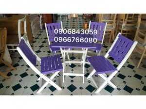Bàn ghế gỗ xếp cafe giá rẻ
