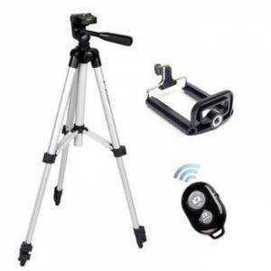 Chân giá đỡ máy chụp ảnh/ quay phim Tripod TF 3110 + Giá đỡ điện thoại + Remote