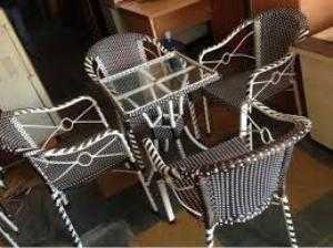 Bàn ghế nhựa giả mây giá rẻ
