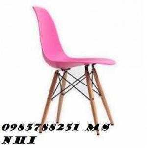 Ghế nhựa chân gỗ đa màu