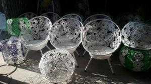 Bàn ghế đan đồng tiền giá rẻ