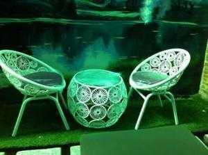 Bàn ghế cafe độc lạ