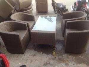 Bàn ghế sofa mây nhựa gí rẻ