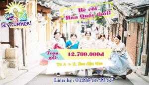 Du lịch Hàn Quốc chỉ 12.700.000