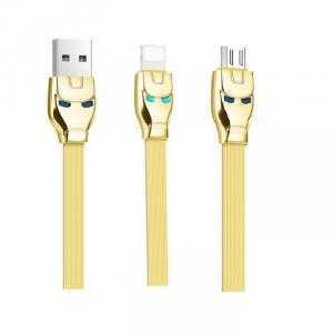 Cáp Sạc 2 Đầu Lightning Và Micro USB Hoco U14