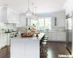Tủ bếp gỗ Tần Bì thiết kế phù hợp không gian rộng – TBT110