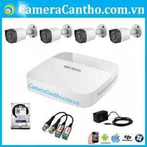 Bộ 4 camera quan sát HD 1.0MP Kbvision