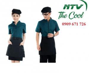 Cơ sở may tạp dề giá rẻ, may thêu in logo tạp dề - mũ nón bếp đồng phục nhà hàng, cafe giá rẻ