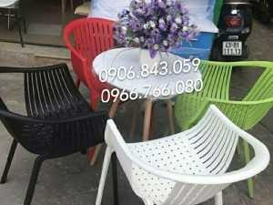 Ghế nhựa chân nhôm giá rẻ