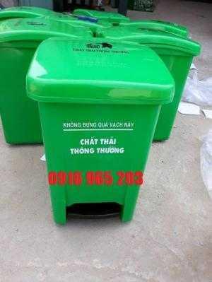 Thùng rác đạp chân y tế 25 lít, thùng rác y tế 25 lít, thùng rác xanh lá 25 lít