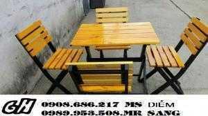 Cẩn thanh lý gấp 20 bộ ghế gỗ cafe giá rẻ nhất h7