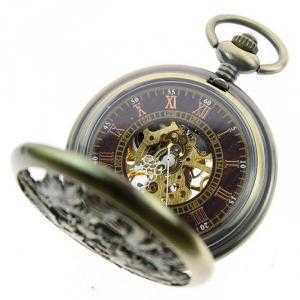 Đồng hồ quả quýt bỏ túi ZIJAE hình rồng phượng